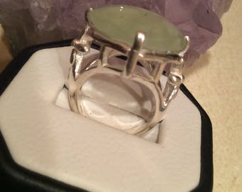 Lemon Quartz and sterling silver Ring