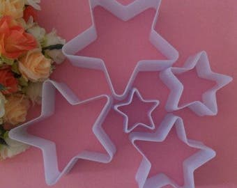 Box 5 molds cakes away Pieces star sand cake pastry cutters