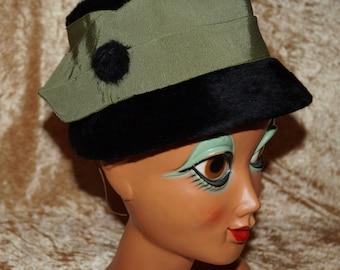 1940's Hat Fake Fur Fun Furs Vintage