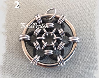 Chain Maille chain Pendant-Chainmaille pendant-Various colors