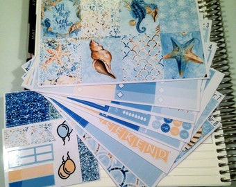 Salt in the Air **Complete Weekly Planner Sticker Kit** (295 Stickers)