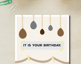 It is your birthday card the office birthday card dwight the office its your birthday dwight schrute birthday card with envelope humour bookmarktalkfo Gallery