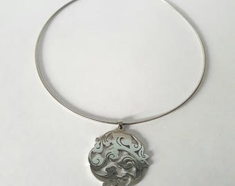 SWIRL - Choker necklace made of steel