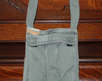 Upcycled Cargo Pants Purse for Men and Women -