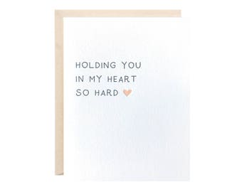 Holding You In My Heart Greeting Card