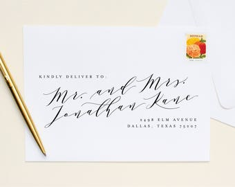 Guest + Return Address Printing | Lovely Calligraphy