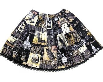 Lolita Skirt / Skirt with Pockets / Gothic Lolita / Lolita Clothing