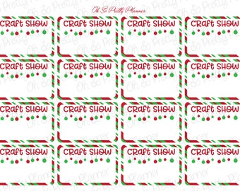 Holiday Craft Show Half Box Planner Stickers