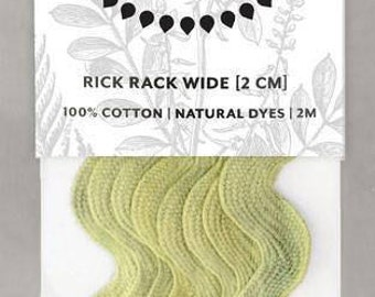 Naturally Dyed 20mm Rick Rack-Leaf Green