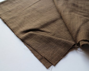 cotton double gauze fabric. soft japanese pure cotton fabric. 102cm (40in) wide. sold by 50cm (19in) long / half yard. chocolate brown