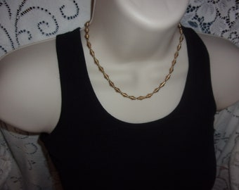 vintage gold tone chain choker necklace