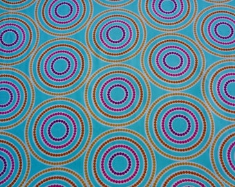 Circle Quilting Cotton Andover Fabric Dazzel By the Yard