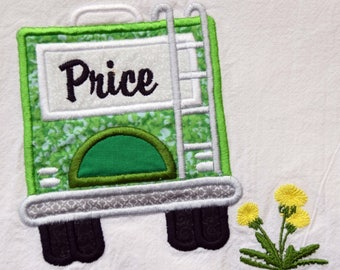 Personalized Dish Towel, RV Decor, Kitchen Towel, Camping, Glamping , 5th Wheel, Trailer, RV Accessories, Flour Sack Towel, RV Gift, Camper