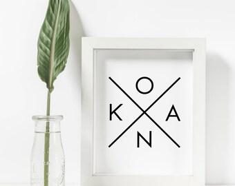 Kona Wall Print, Kona Printable, Kona X, Beach Decor, Printable Wall Art, Rental Decor, Home Decor, Wall Decor, Beach Art Prints, Aloha