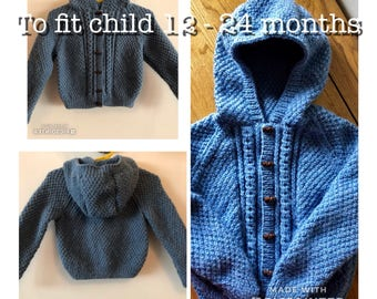 Childs jacket/cardigan with hood age 12 - 18 months