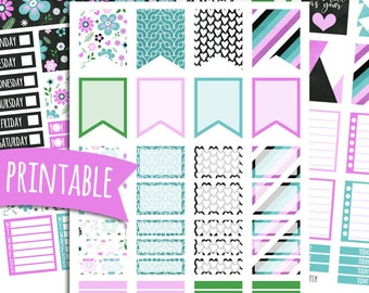 A Full Heart PRINTABLE Planner Stickers for Erin Condren Vertical | Sticker Printables | Happy Planner Stickers | Positivity | Empowerment