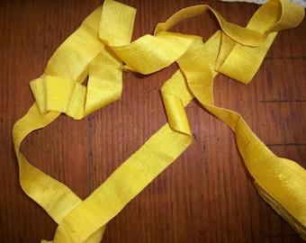 1 yard of french silk  RARE ribbon daffodil shade