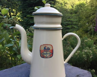 Japy French enamelware cafetière
