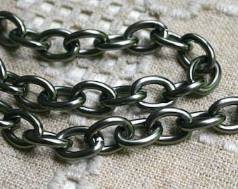 5ft Craft Chain Gunmetal Aluminum Large 19x14x3mm Oval Links 19mm