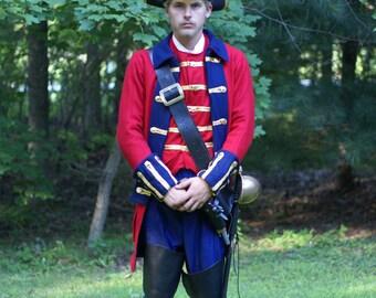 "Outlander,"" Captain Jack Randall""  inspired, 1700""s English Revolutionary period Military Coat."