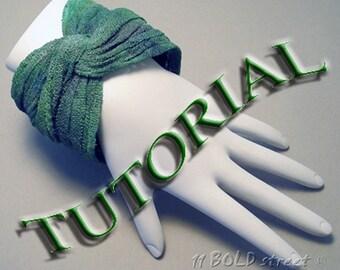 TUTORIAL - Liquid Polymer Clay Gauze Fiber Bangle Bracelet DIY