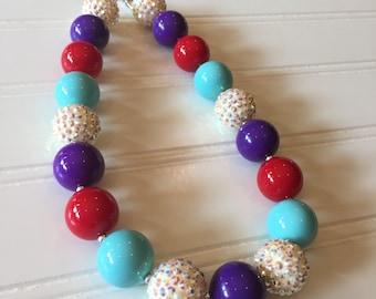 Ariel Chunky Necklace - Little Mermaid Chunky Necklace - Ariel Birthday Jewelry - Ariel Bubble Gum Necklace - Little Mermaid Necklace