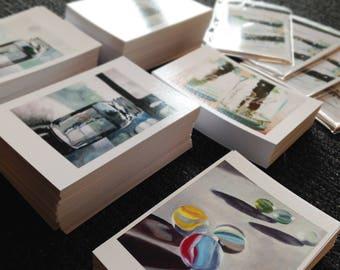 Art Postcard Set of 10 Art Postcards Original Paintings Postcard Prints Blank Postcards Ball Jar Art Postcard Glass Art Postcard Marbles Art