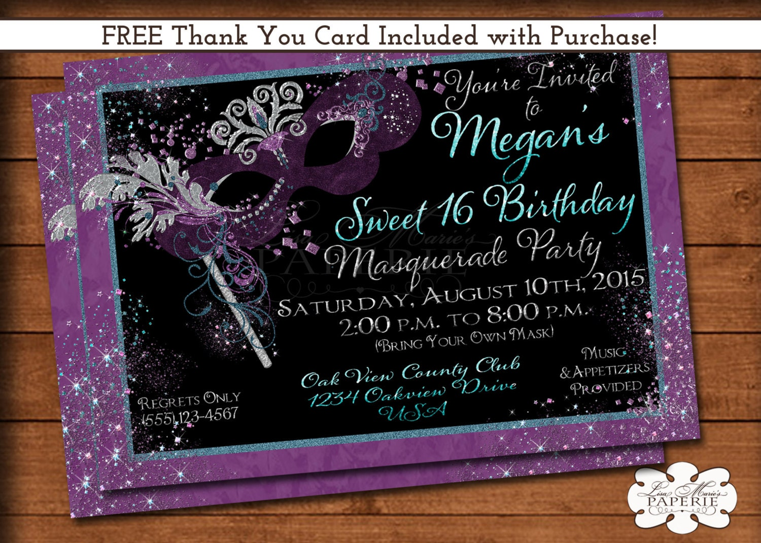 mardi gras invitation masquerade party invitation sweet 16
