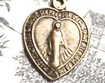 Vintage Bronze Immaculate Conception Medal