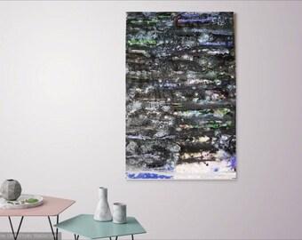 Geo Blossom - Original Abstract Fluid Acrylic Painting