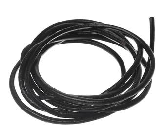 25 mm diameter black smooth leather cord.
