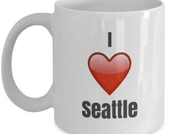 I Love Seattle, Seattle Mug, Seattle Coffee Mug, Seattle Gifts, Seattle Lover Gift, Funny Coffee mug