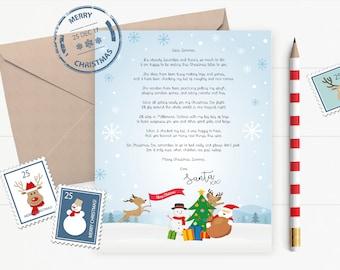 Personalised Letter From Santa, Digital, Printable