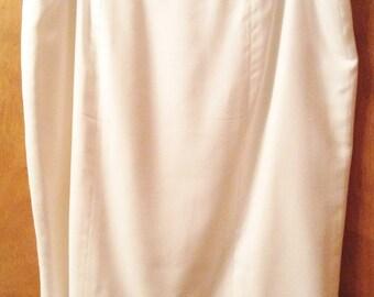White lined skirt.