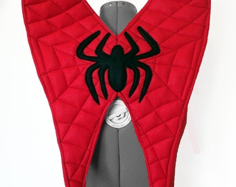 Spider Wings. Superhero, Red, Black. Two Sizes.