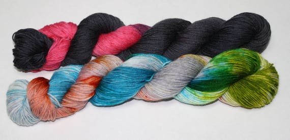 Ready to Ship - Rebellions Are Built On Hope & Dark Side Sock Yarn Set - Tough Sock