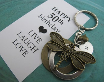 50th Birthday Gifts - 50th Birthday Gifts For Women - Gift For Mom - Gift For Best Friend -  Gift For Wife - Live.Laugh. Love