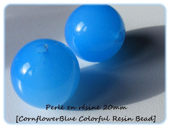 Pearl resin bright 20mm x 1 [CornflowerBlue Colorful]