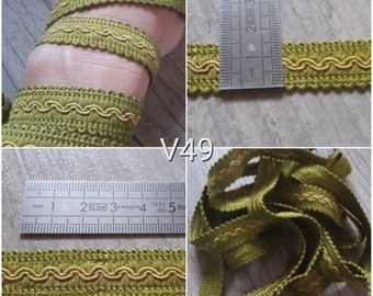 Braided V49 stripe 16mm yellow and pistachio Green