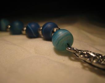 Blue Agate, Orange Agate, Tigers Eye meditation beads