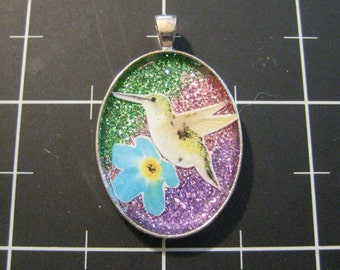 Hummingbird Shimmer Pendant, 50% goes to the charity of the month