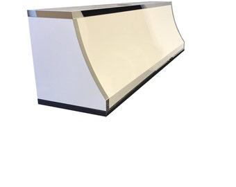 Elegant Powder Coat White and Polished Stainless Steel Range Hood