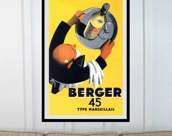 Reprint of a Vintage French Liquor Poster