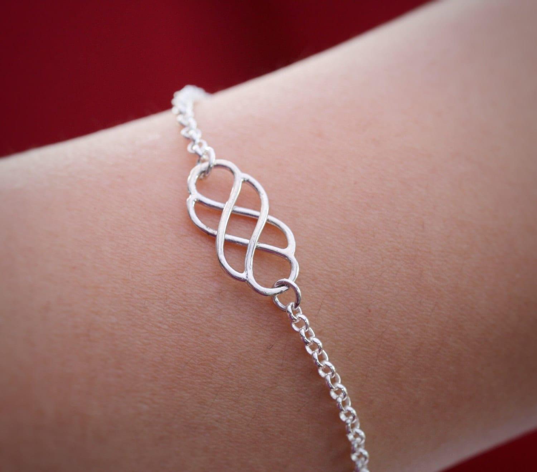 Sterling Silver Infinity Knot BraceletSilver infinity Knot