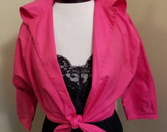 Vintage 1950s Barbie pink  Wanda tie top