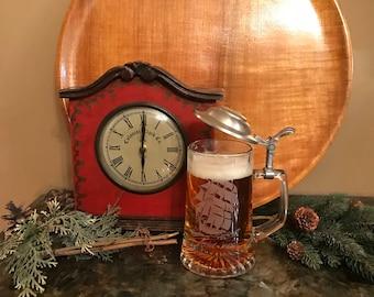 Glass Beer Stein German