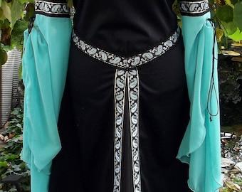 Gown bridal gown Medieval dress 40 42 44 46 Blue Black