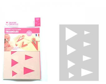 Template designs polymer clay leather Triangle A5 Format