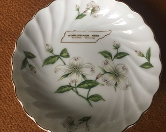 1982 World's Fair, Knoxville, Tennessee Souvenir Dish, Lefton China, Vintage