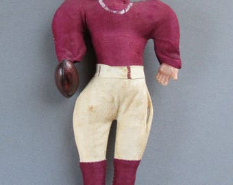 VINTAGE Cloth & Celluloid FOOTBALL DOLL Japan